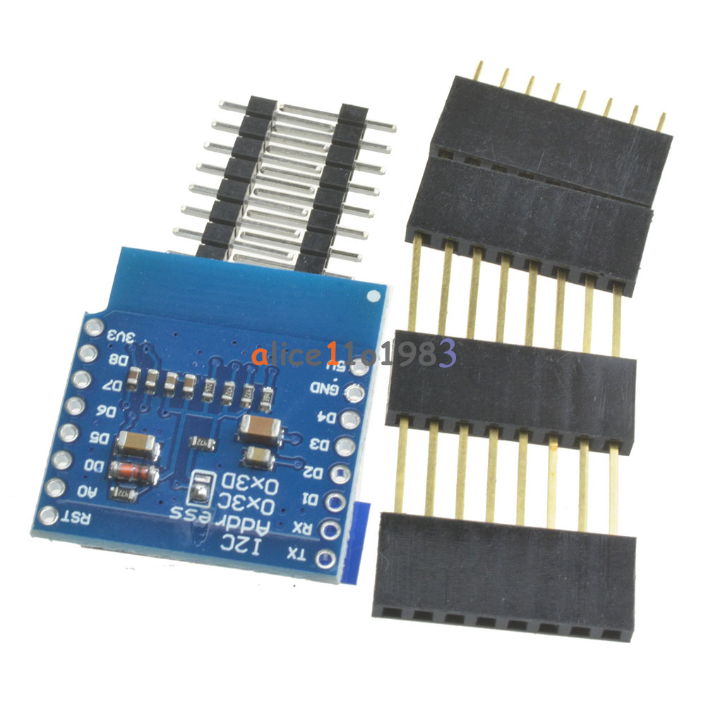 Oled shield for wemos d mini quot inch iic i c