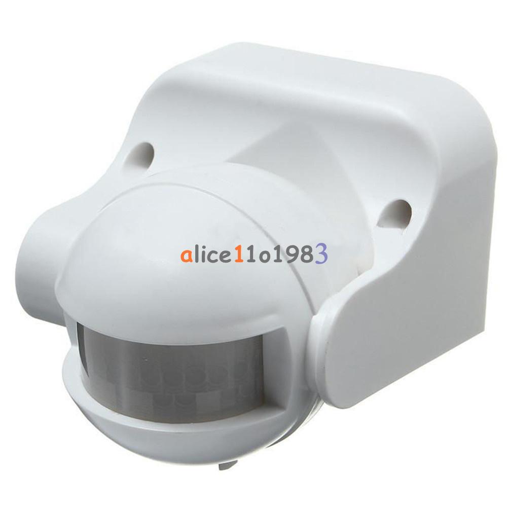 White Outdoor 180 Degree Security Pir Motion Movement Sensor Detector Switch Ebay
