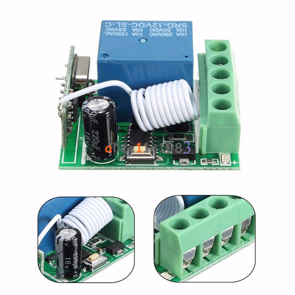 315 433mhz 1 Channel Wireless Relay Rf Remote Control Switch The Device Has Four Modes Toggle 4rf Working Modesuper Heterodyne Receiver 5receiver Sensitivity 90dbm 6remote Distance 100 Meterin Open