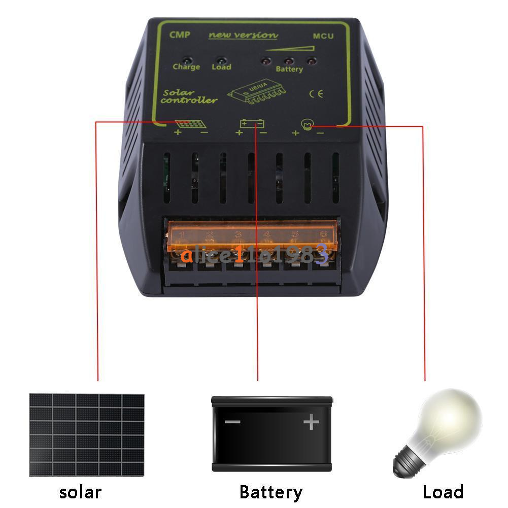 20a 12v 24v Solar Panel Charge Controller Battery