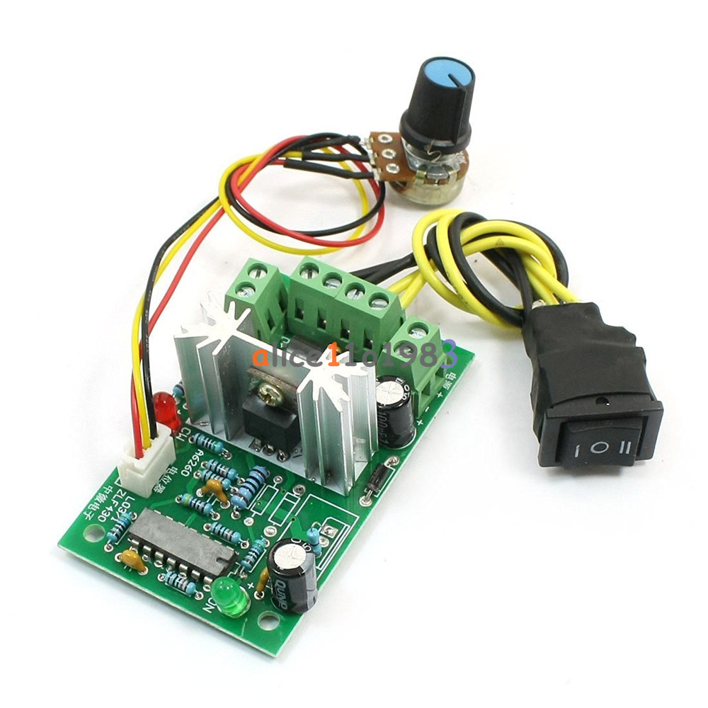 10 36v dc motor speed controller reversible pwm control for Raspberry pi motor speed control
