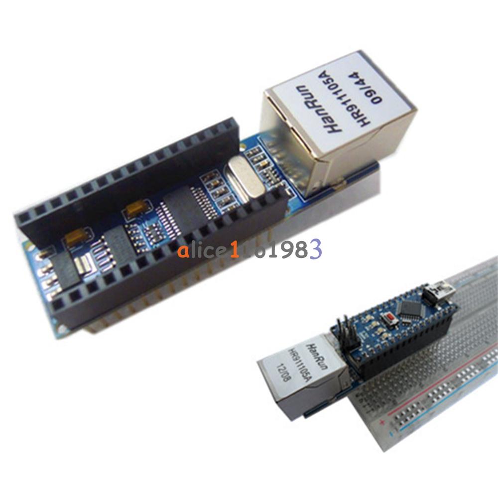 Enc j ethernet shield module arduino usb nano v