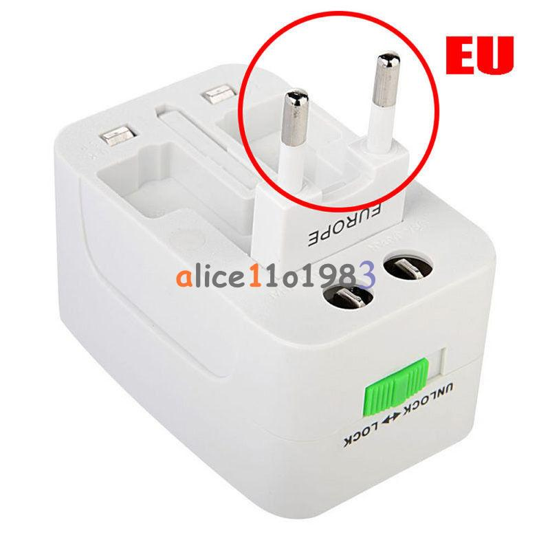 Eu au uk us to universal world travel ac power plug