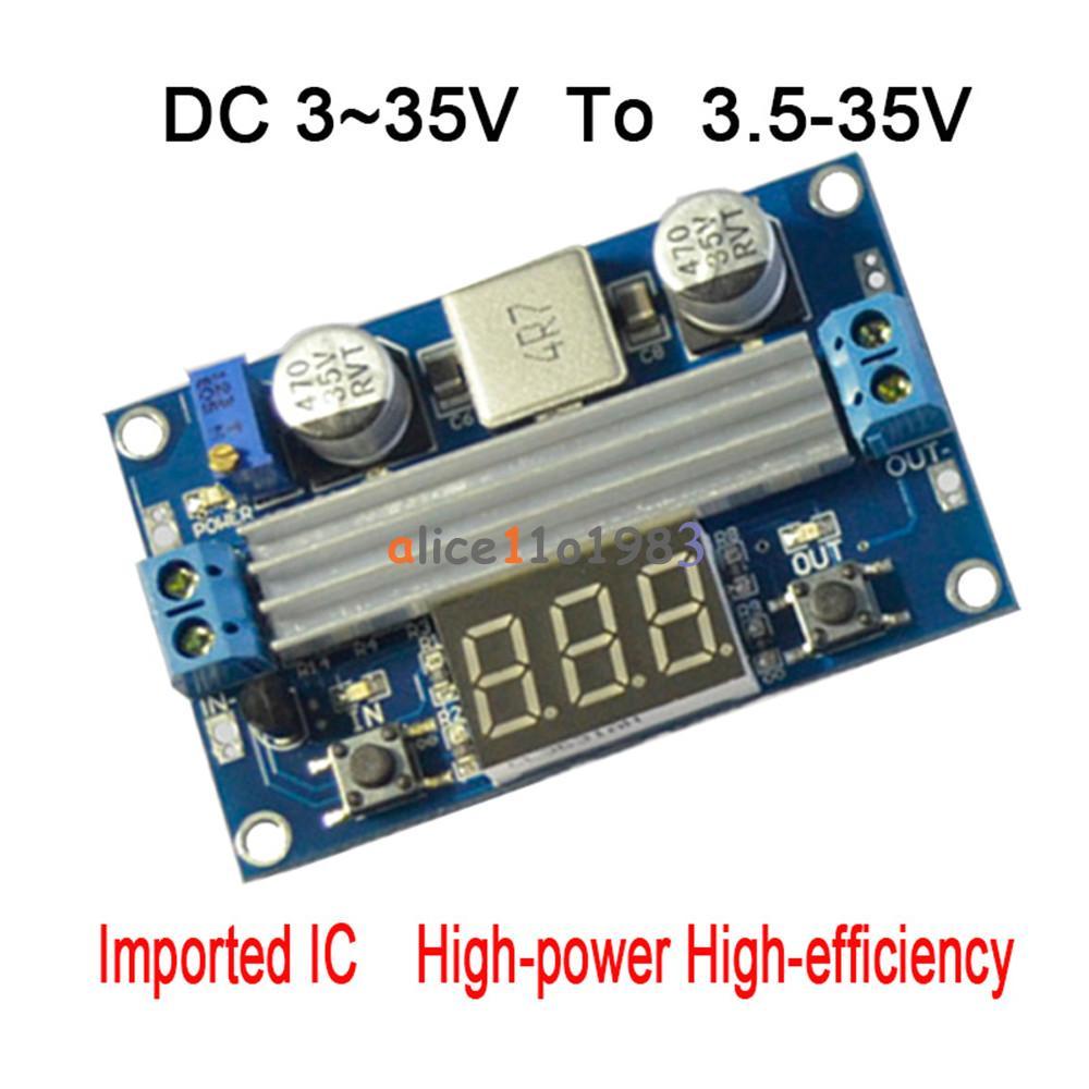3~35V To 3.5~35V 100W Adjustable DC Step-up Boost Voltage Converter Module TOP