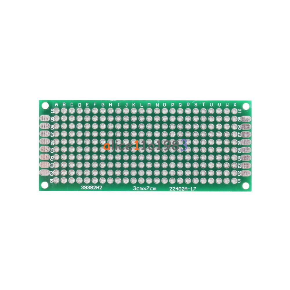 5PCS Double Side Prototype PCB Bread board Tinned Universal 3x7 cm 30x70 mm FR4