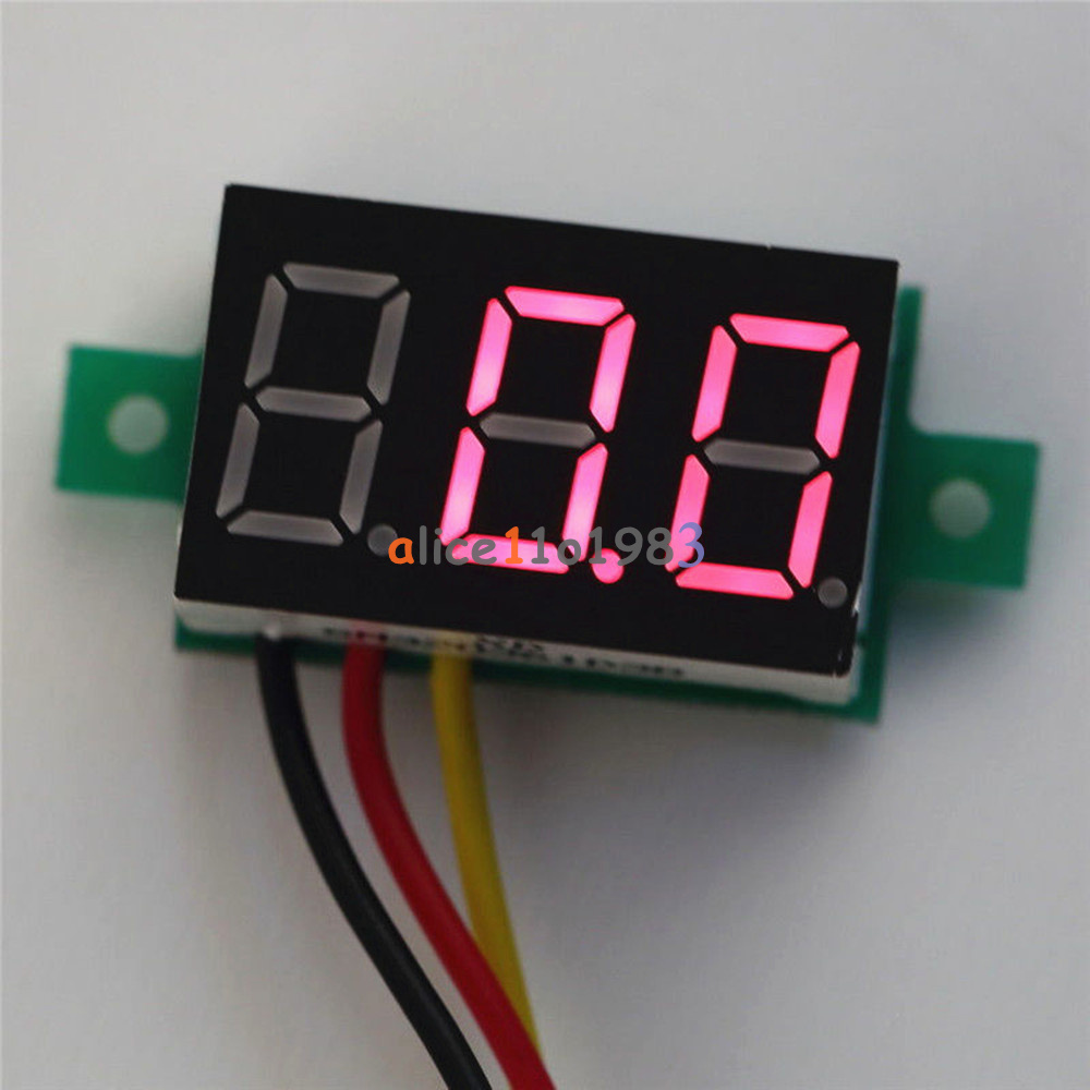028 Red Led Dc 0 100v 3 Wires Digital Voltmeter Display Voltage Wire Wiring Panel Meter