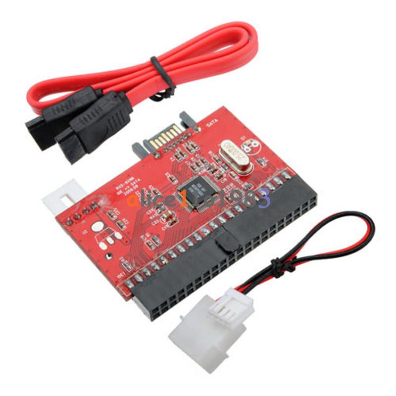 IDE to SATA ATA 100/133 Serial HDD CD DVD Converter Adapter + Power & SATA Cable | eBay