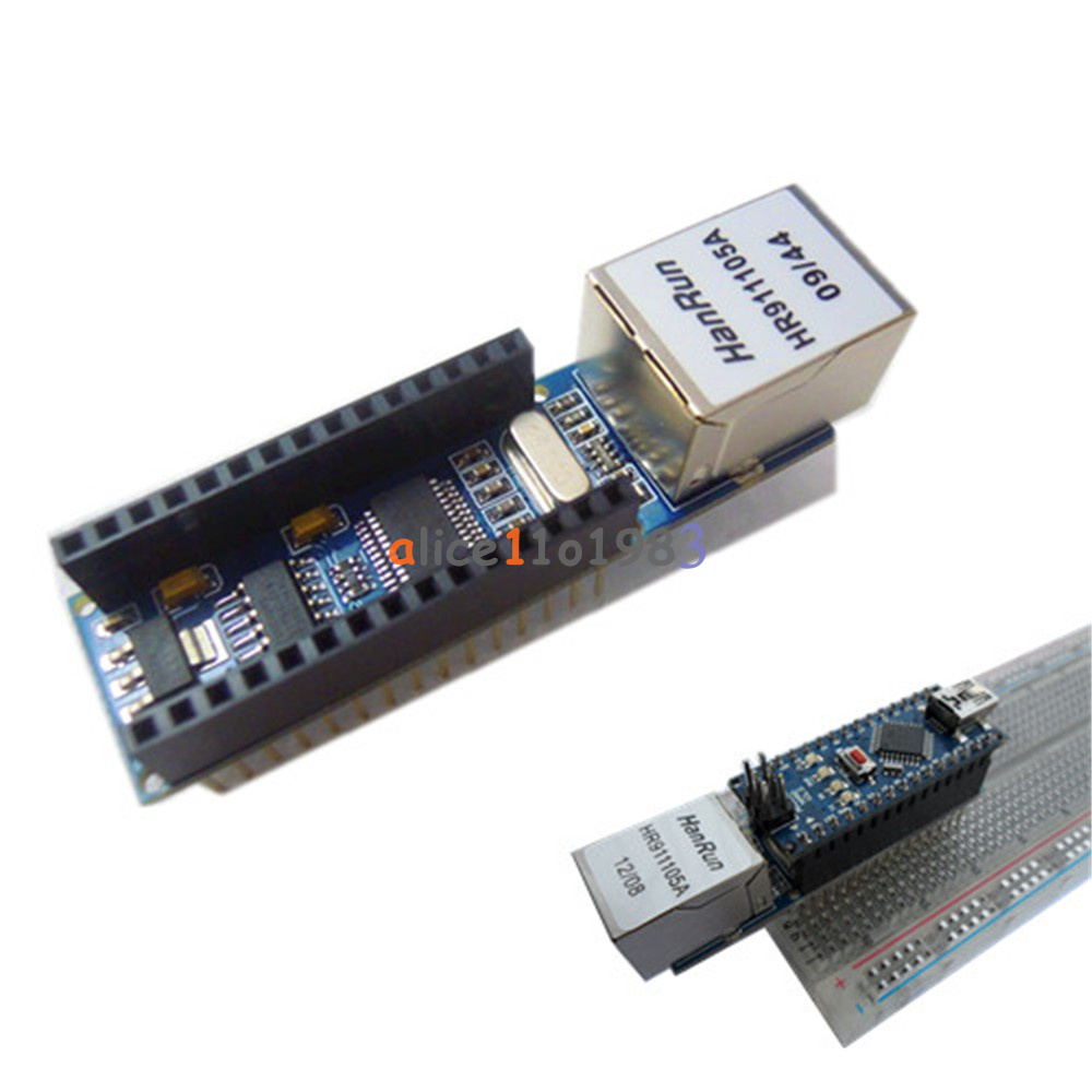 Enc j ethernet shield for arduino nano rj
