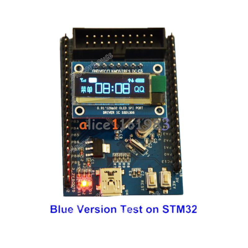 "IIC I2C 0.91/"" inch 128x32 White Blue OLED LCD Display Module For Arduino AVR PIC"