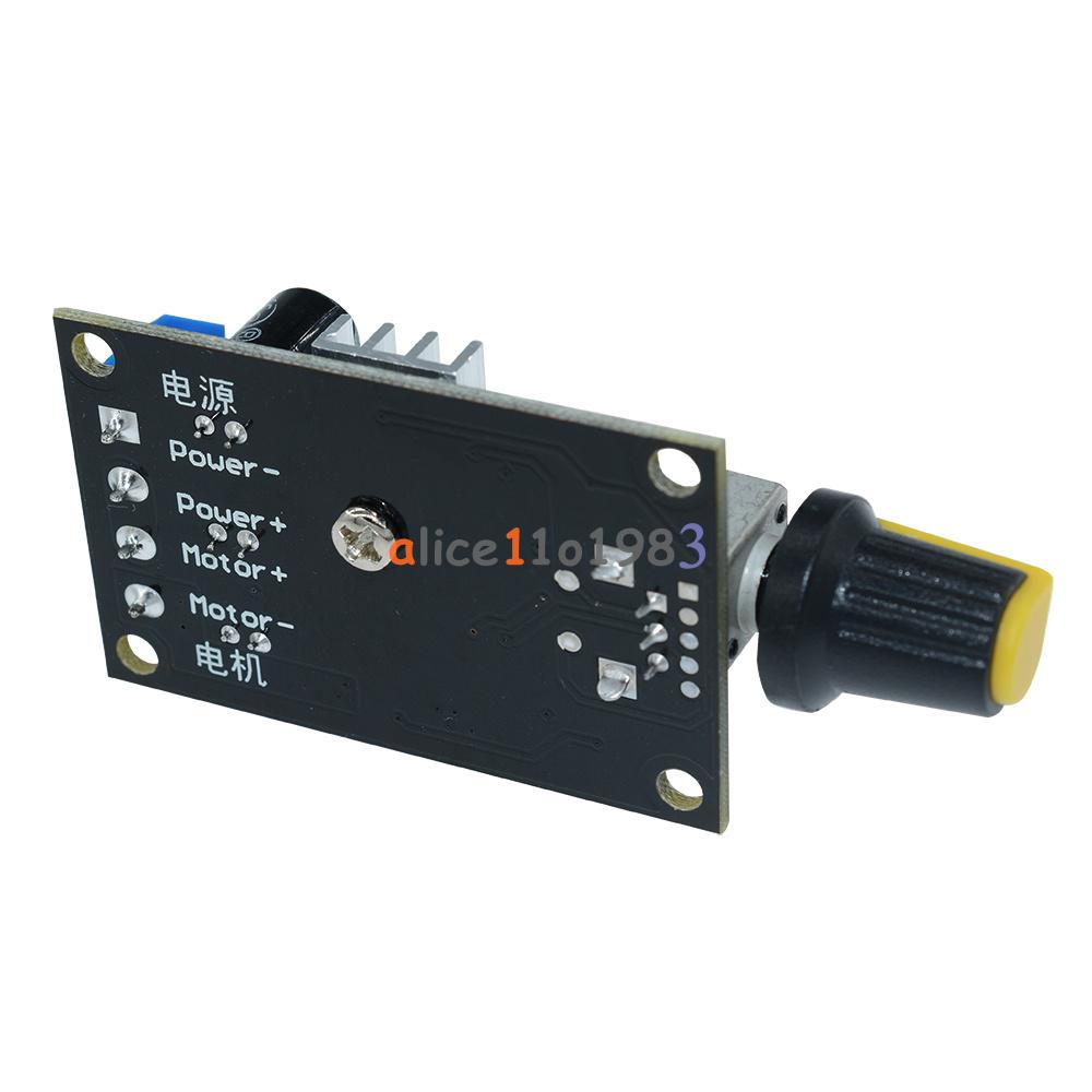 1/2/5PCS PWM DC 3A 6V 12V 24V 28V Motor Speed Control Switch ...
