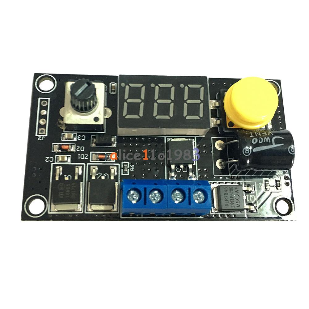 DC 6-30V 12V 24V Max 8A 16KHz PWM 3 Bit Digital LED Speed Controller ...
