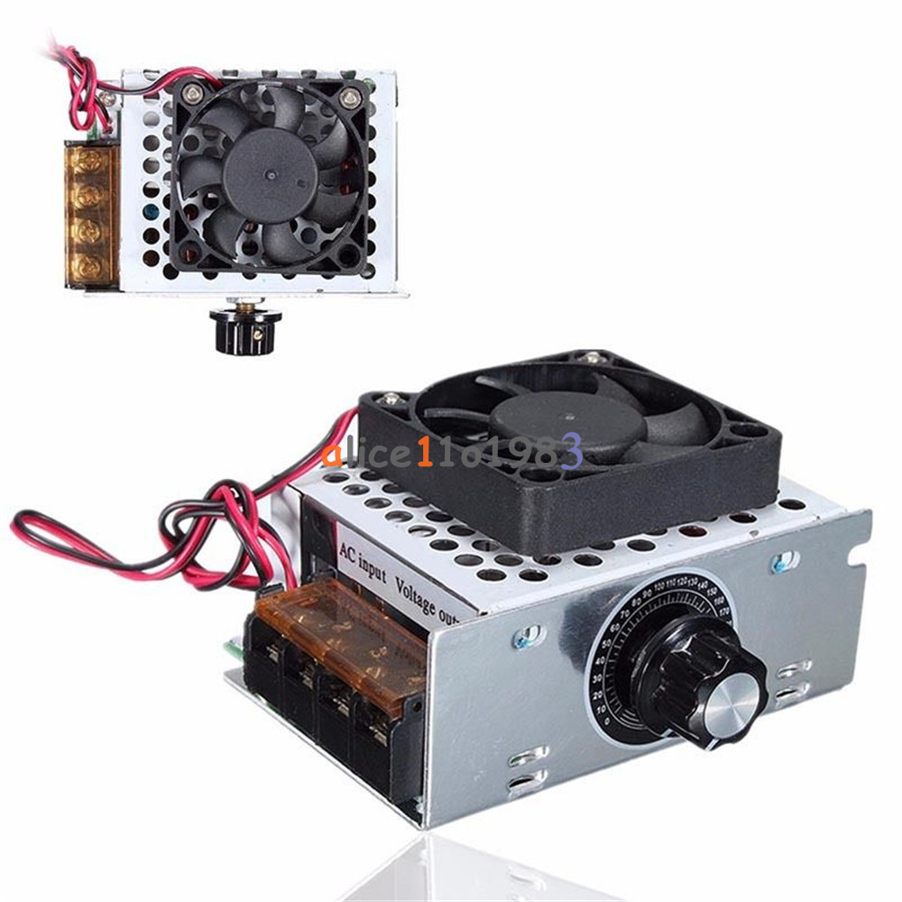 4000w ac 220v voltage regulator motor speed controller fan for Speed control of ac motor