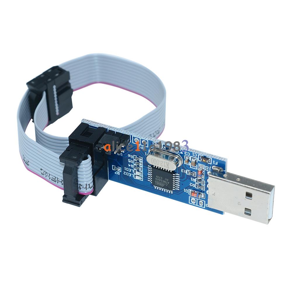 Usbasp usbisp avr programmer adapter pin cable usb