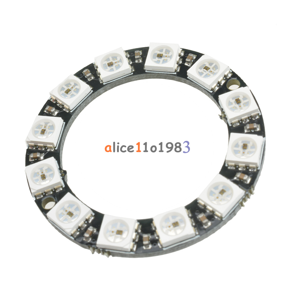rgb led ring 12 bit ws2812 5050 rgb led   integrated