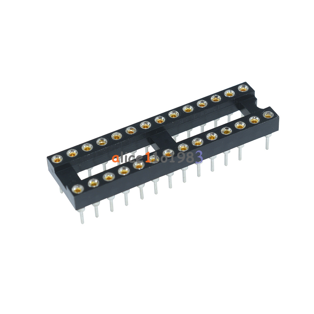 20Pcs 28Pin DIP Round DIP IC Socket Solder Type Narrow Adapter