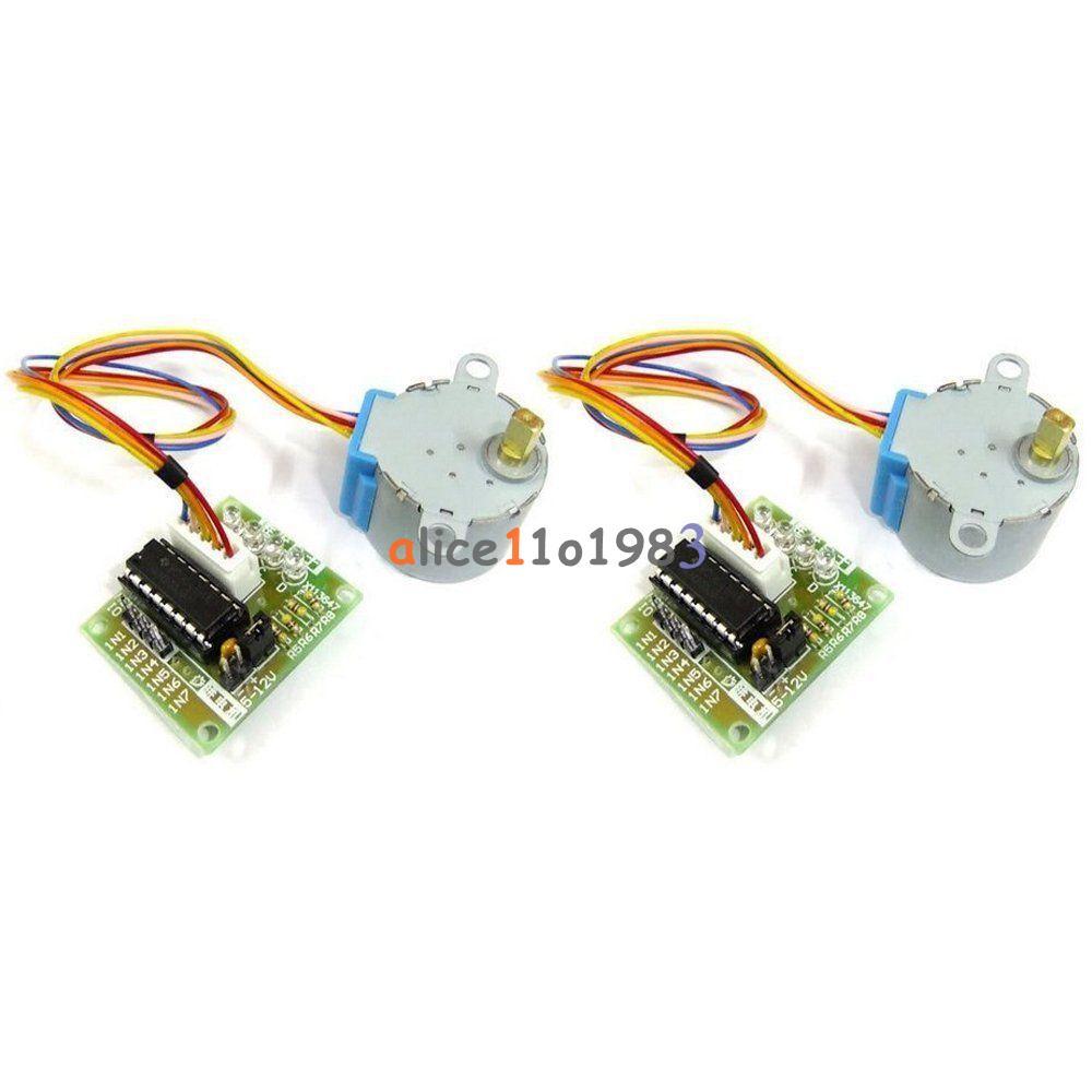 2pcs 12v Stepper Motor 28byj 48 Drive Test Module Board