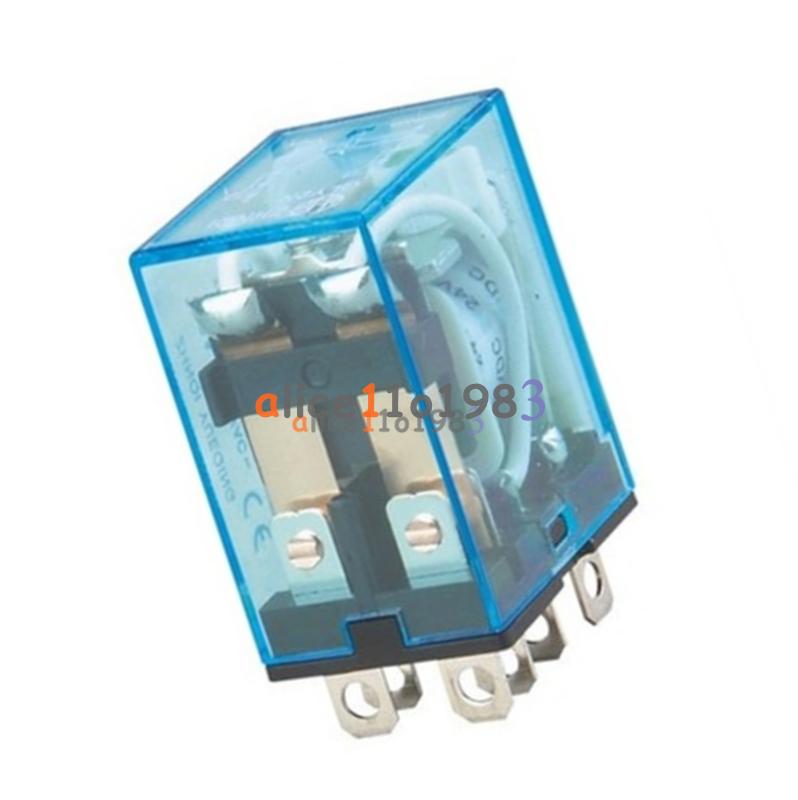 10A  AC 220V Coil Power Relay DPDT LY2NJ HH62P HHC68A-2Z With Socket Base