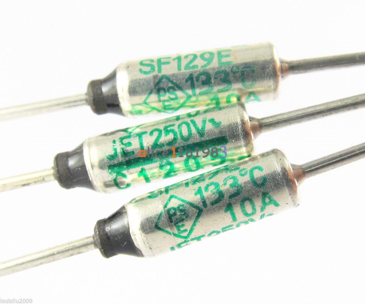 10pcs Sf129e Sefuse Cutoffs Nec Thermal Fuse 133 U00b0c 133 Degree 10a 250v