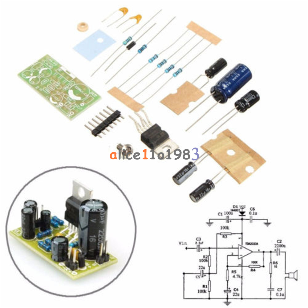 Tda2030a Electronic Audio Power Amplifier Board Diymono 18w Dc 9 24v Tda2030 Complete Tone Control Amp Circuit Diagram Kit
