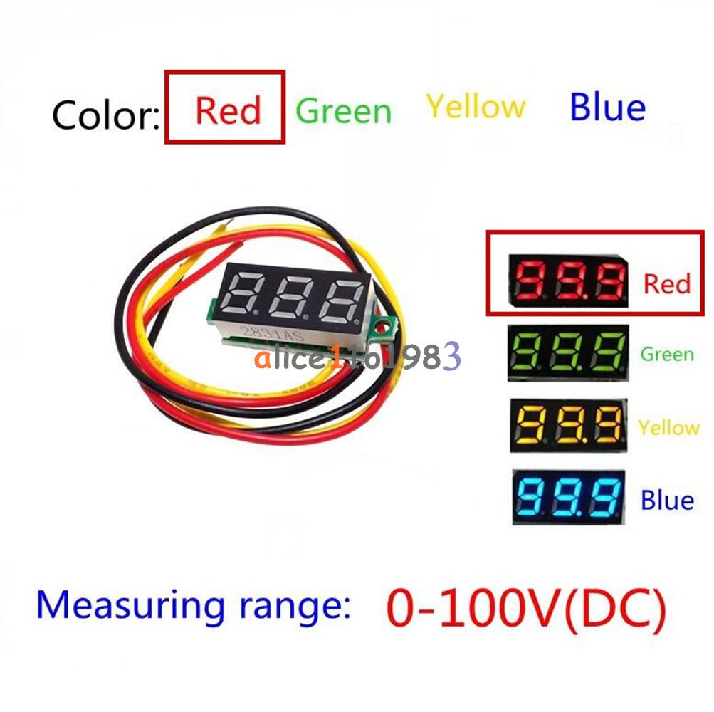 3 Wire Digital Voltmeter Wiring Trusted Diagrams Gauge Diagram 0 28 Red Led Dc 100v Wires Display Voltage