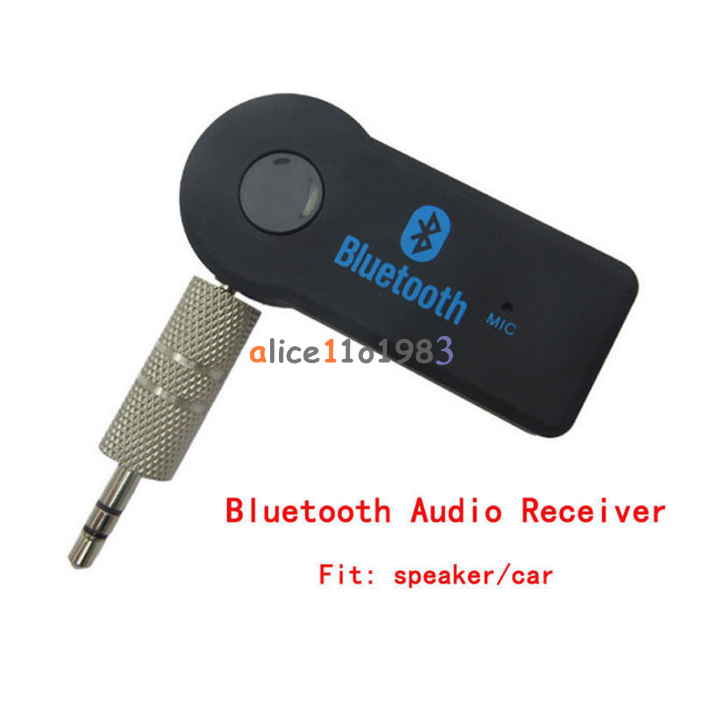 Car Bluetooth Music Receiver With Handsfree: New Bluetooth V3.0 Wireless Stereo Audio Music Receiver 3.5mm Handsfree Car AUX 812714041107