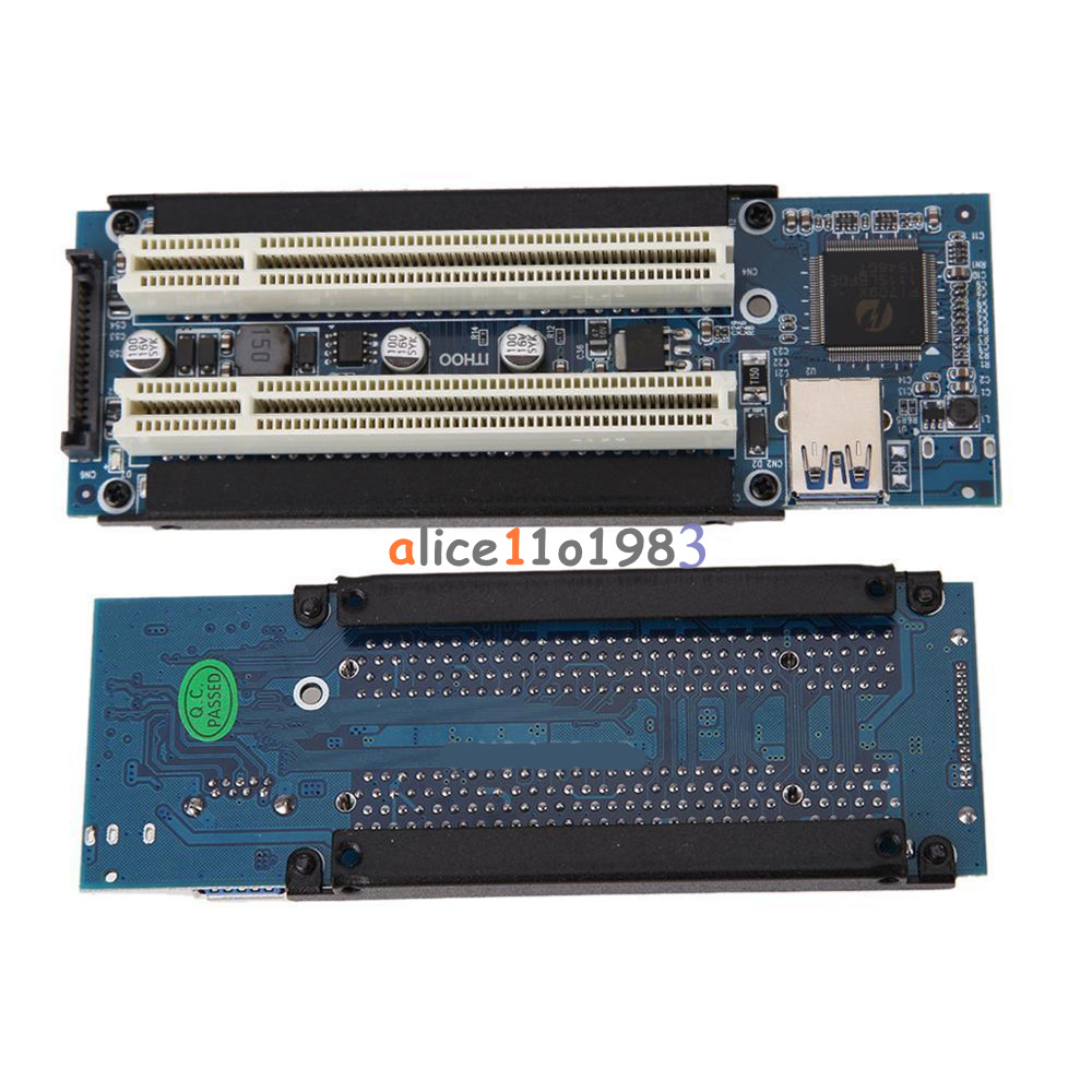 Pci e express x1 to dual pci riser extend adapter card with usb 3 0 cable ebay - Carte pci express 3 0 sur port 2 0 ...