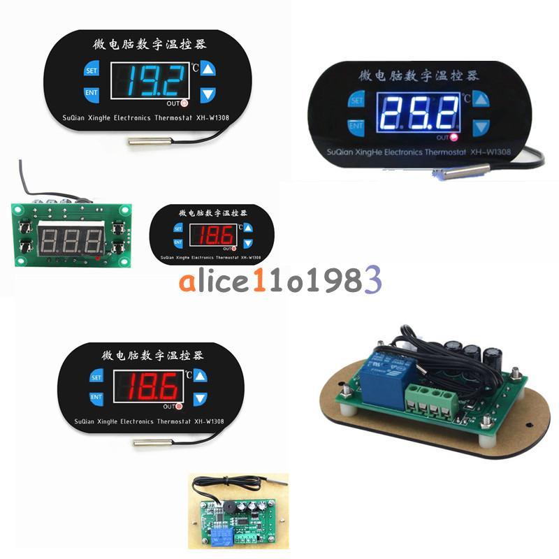 W1308 Digital 12V//220V Red//Blue LED Thermostat Sensor Temperature Controller