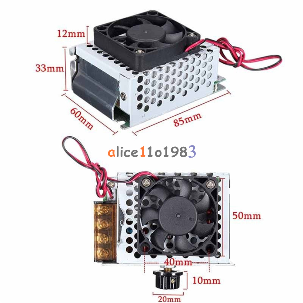 4000w ac 220v voltage regulator motor speed controller fan for Ac motor with speed control