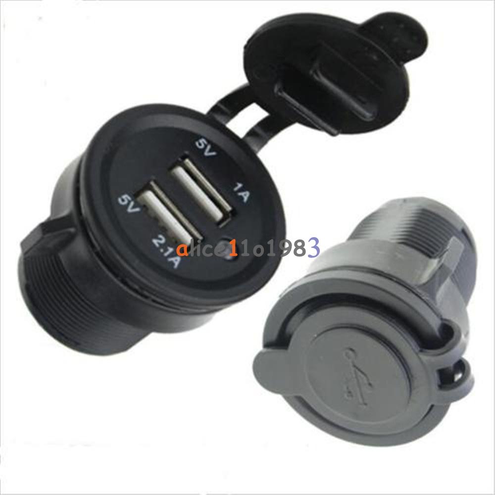 Multiple Usb Port Car Charger: 12-24V Dual USB Port Car Charger Power Adaptor Splitter