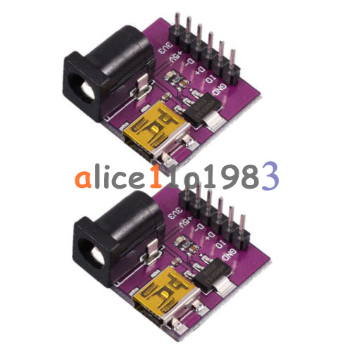 2PCS AMS1117-3.3V Mini USB 5V//3.3V DC 5V Power Supply Module