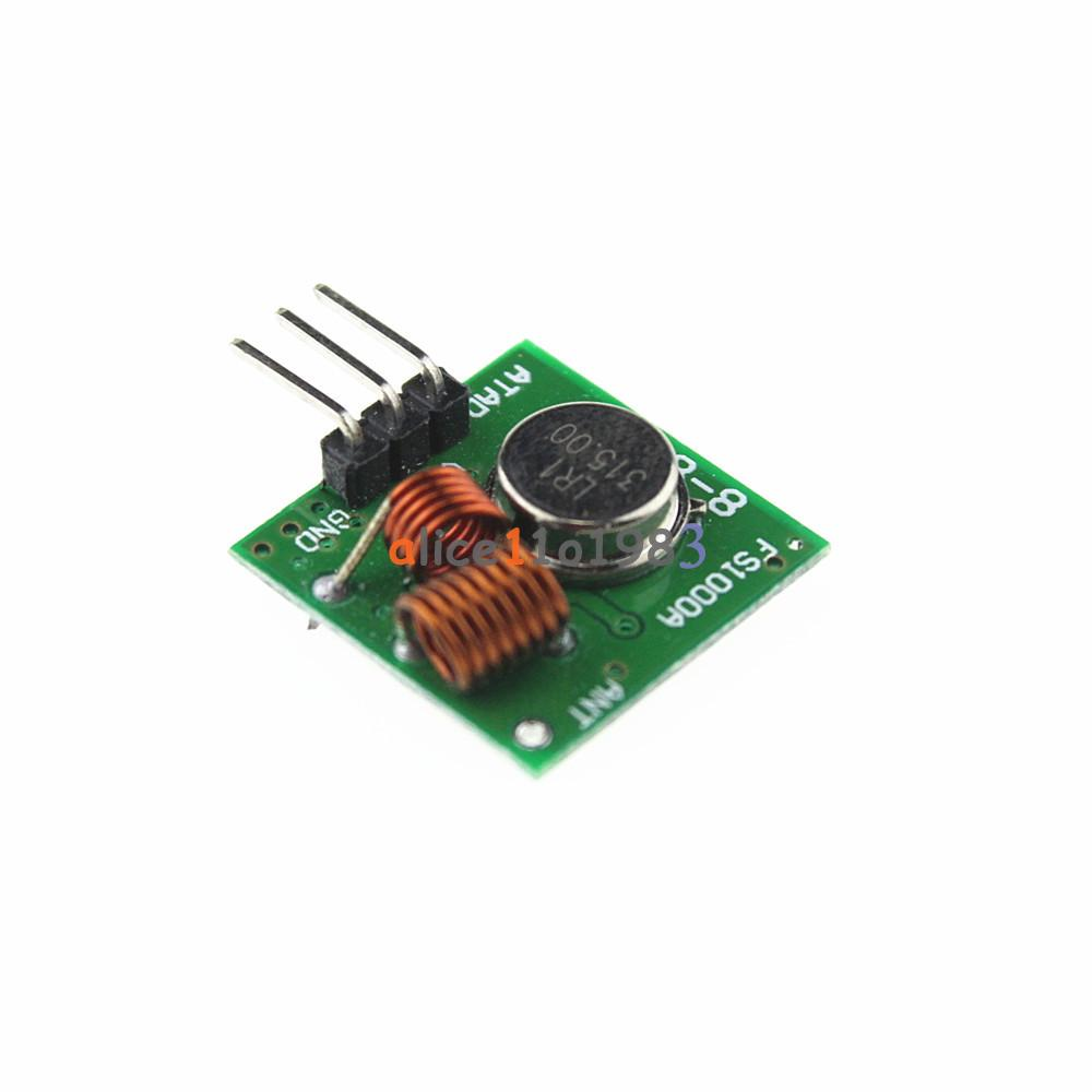315mhz Rf Transmitter And Receiver Link Kit For Arduino