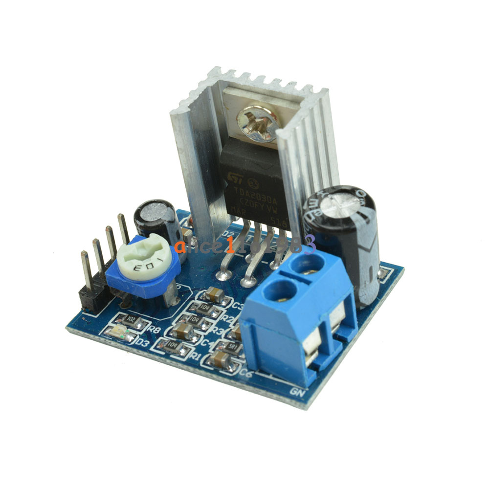 5pcs Power Supply Tda2030 Audio Amplifier Board Module Tda2030a 6 Circuit Electronic Design 12v Single
