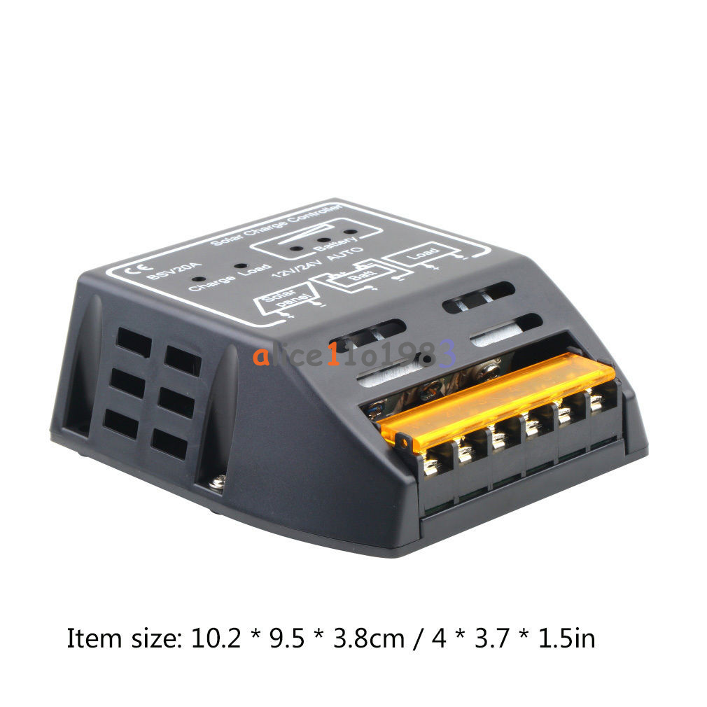 20a 12v 24v Solar Panel Charge Controller Battery Regulator Safe Charger With Overcharge Protection Electronic New