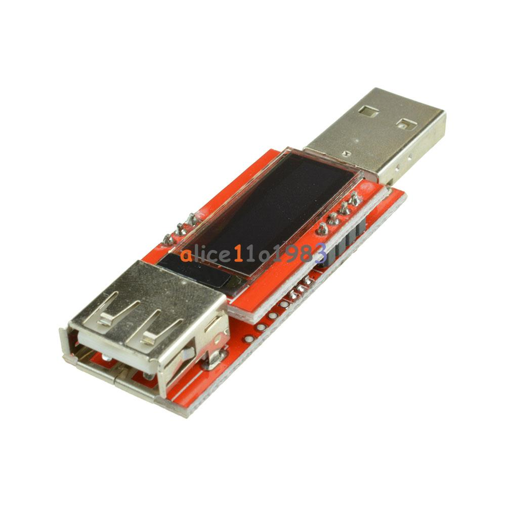 White Voltage Tester : Oled usb charger capacity power current voltage detector
