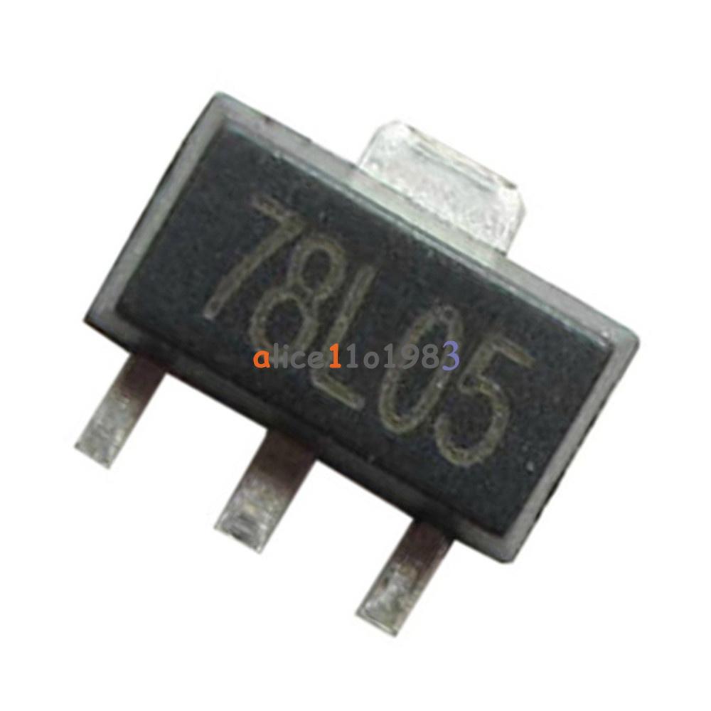 100pcs78l05 L78l05 7805 Voltage Regulator 5v 100ma Sot 89 Smd Ebay Logic Power Control Circuit For 78xx