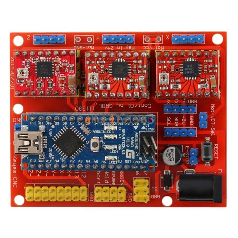 V cnc shield engraver d printer expansion board