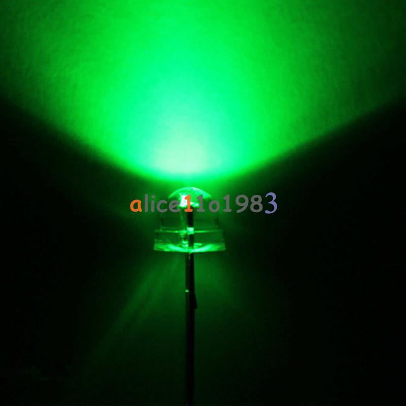 50pcs F5 5mm Emerald GREEN Straw Hat Superbright GREEN LED Light LED lamp