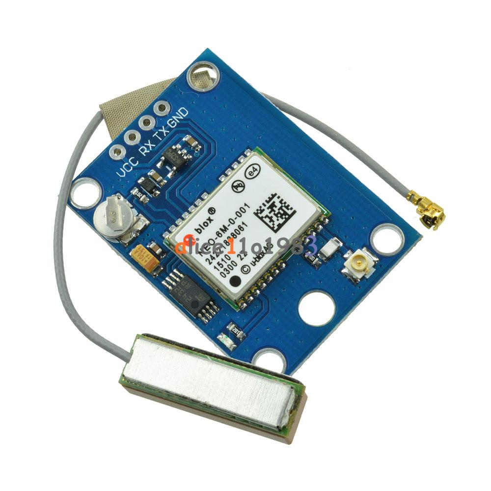 Ublox neo m gps module with antenna flight controller for