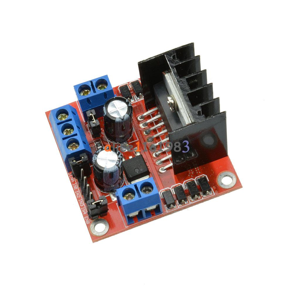 25w l298n dual h bridge dc stepper motor l298n drive for Raspberry pi stepper motor controller