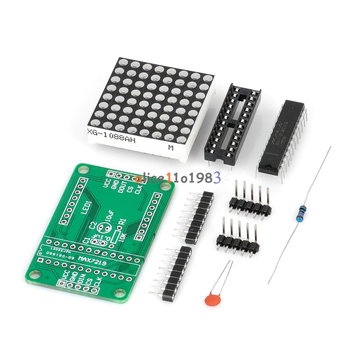 Max dot led matrix module mcu control display