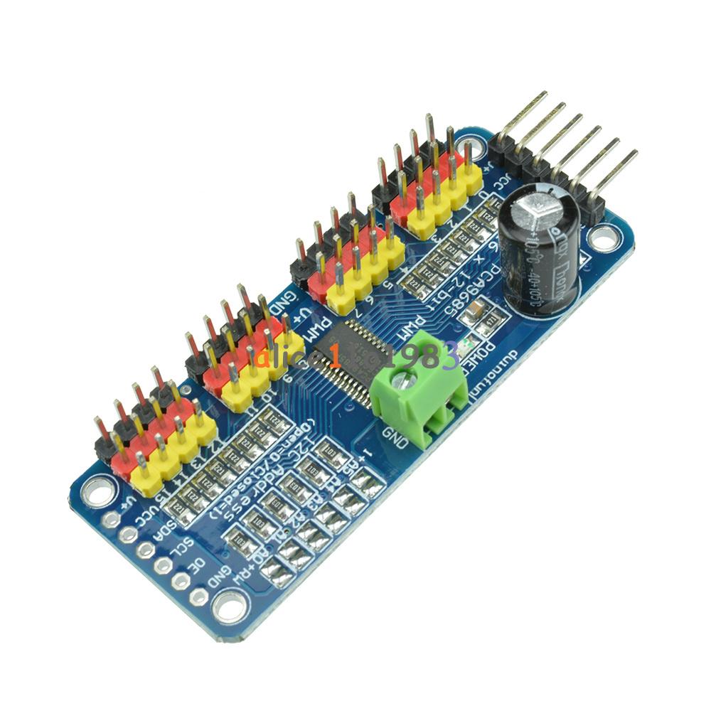 Pca9685 16 ch 12 bit pwm servo shield motor driver i2c for How to control a servo motor with raspberry pi
