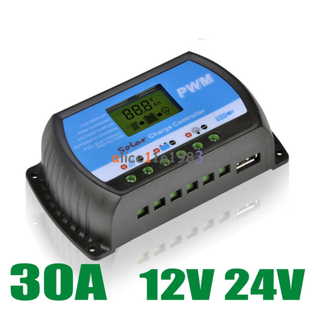 30a Pwm Solar Panel Controller Battery Charge Regulator