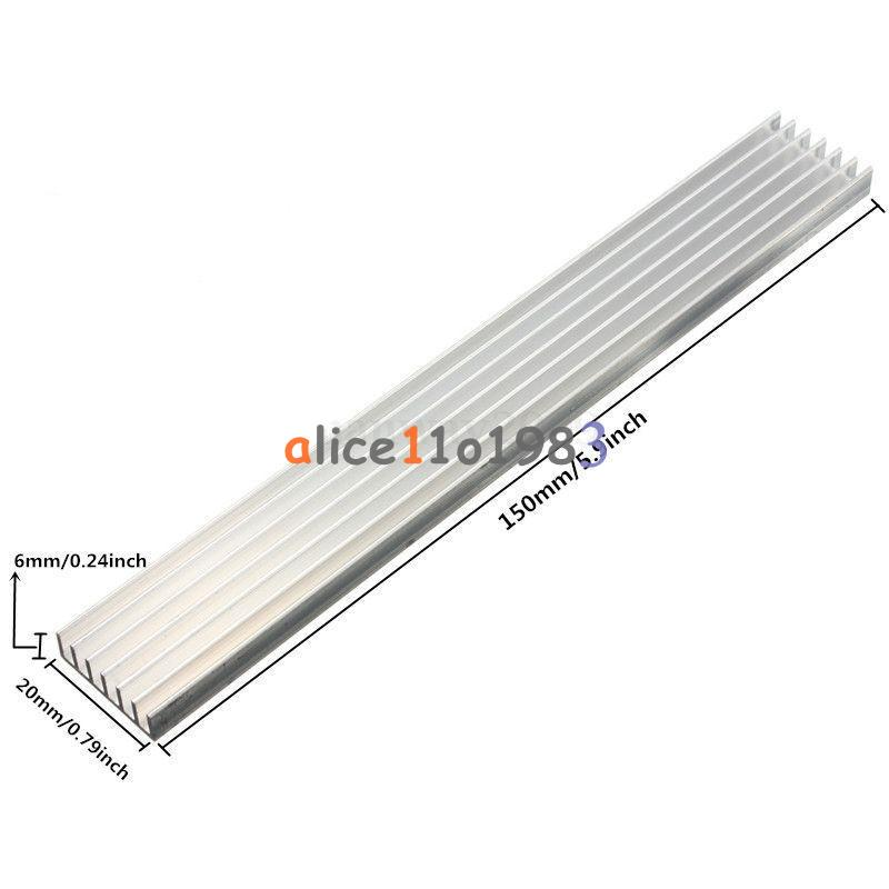 2pcs 150x20x6mm aluminum heat sink high quality for power