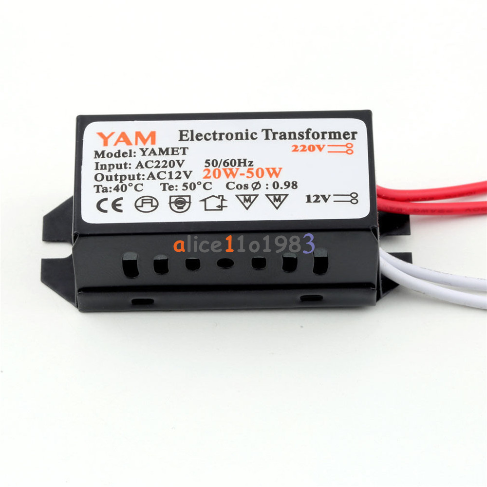 ac 220v to 12v 20w halogen lamp electronic transformer led driver driver ebay. Black Bedroom Furniture Sets. Home Design Ideas