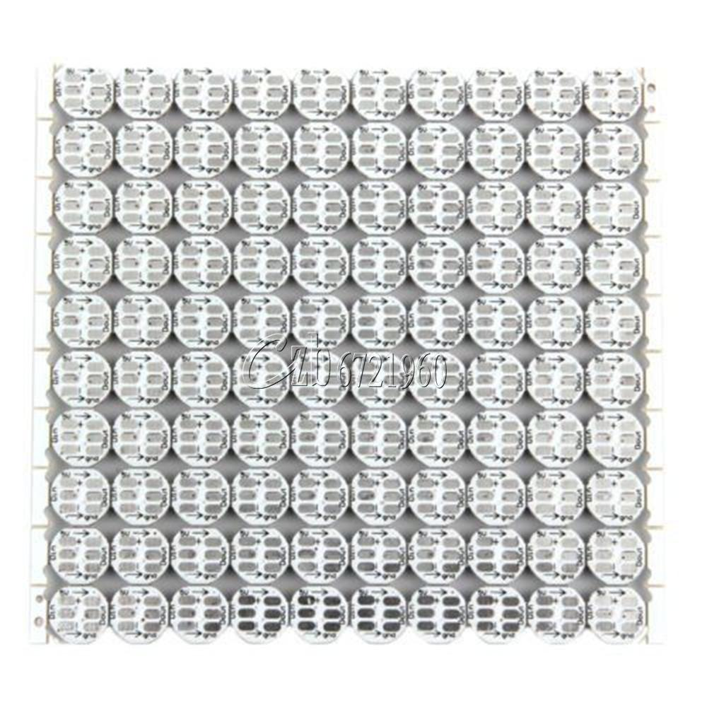 Ws2812b 10x10 100 Bit Full Color 5050rgb Led Pcb Board Lamp Panel Light Circuit Boards China Arduino