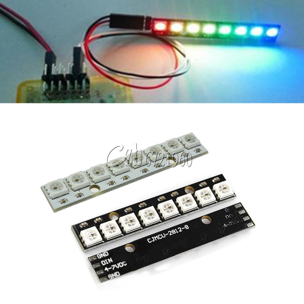 10PCS WS 2812 2811 5050 RGB LED Lamp Panel Module Rainbow 1-Bit 5V For Arduino