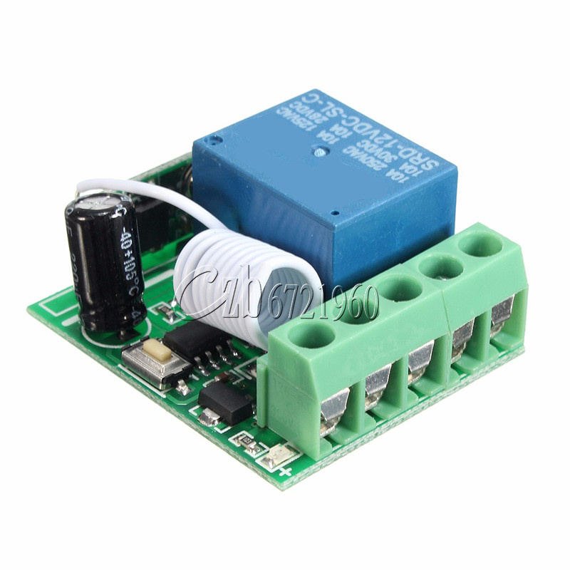 Relay Switch DC 12V Wireless RF Remote Control Switch 433Mhz One 1-Channel with