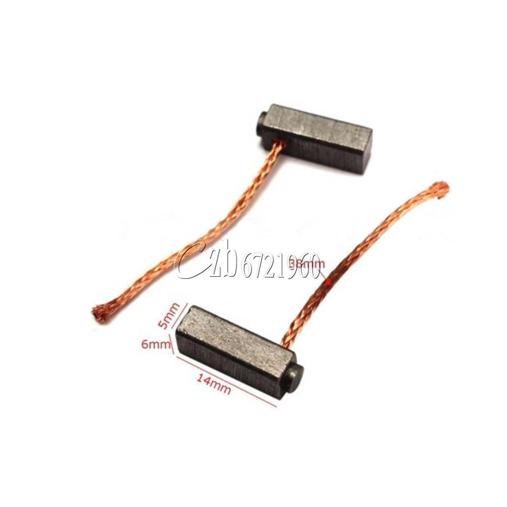 2pcs 5mm X 6mm X 14mm Carbon Brushes Motor Brush For