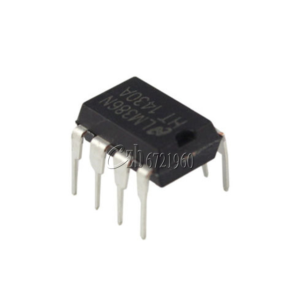 5 Pcs Through Hole Audio Power Amplifier LM386N 8 Pins DIP IC Q4W6 2X 2*