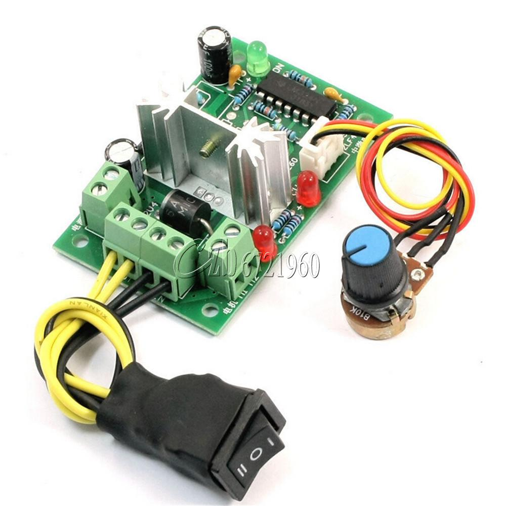 6 30v Dc Motor Speed Controller Reversible Pwm Control